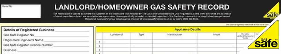 Landlord Gas Safety Report